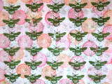 Pollinator, Bee, Butterfly, Textile Design, Styrofoam Stamps, Meat trays